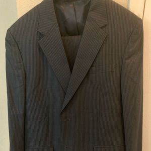 Jo's. A. Bank black strip suit with pants